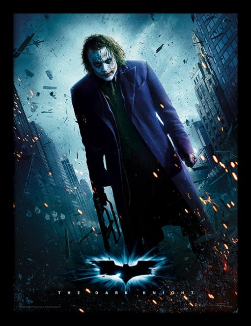 The Dark Knight - Joker Gun Framed poster