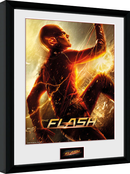 Framed poster The Flash - Run