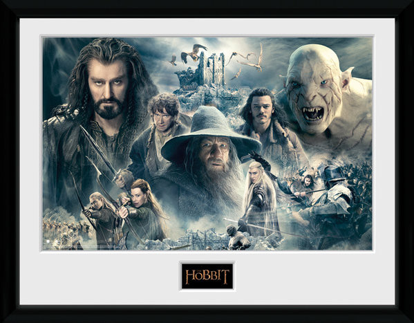 Framed poster The Hobbit - Battle of Five Armies Collage