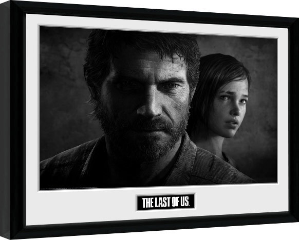 Framed poster The Last Of Us - Black and White