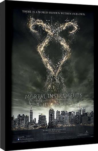 THE MORTAL INSTRUMENTS CITY OF BONES – rune  Framed poster