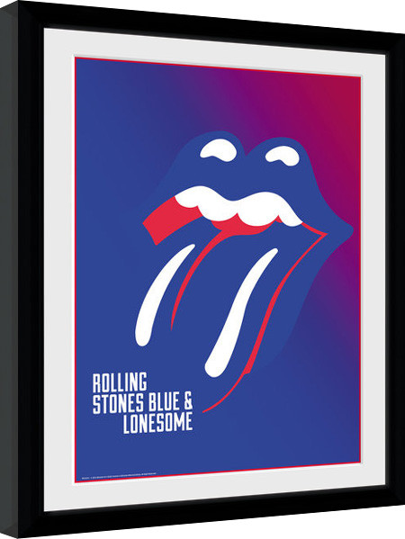 The Rolling Stones - Blue and Lonesome Framed poster