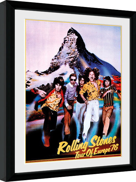 The Rolling Stones - On Tour 76 Framed poster