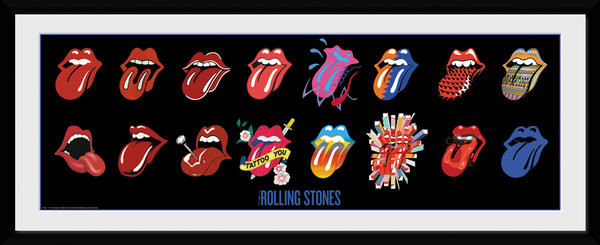Framed poster The Rolling Stones - Tongues (Bravado)