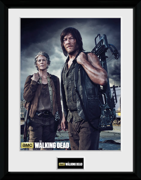 Framed poster The Walking Dead - Carol and Daryl