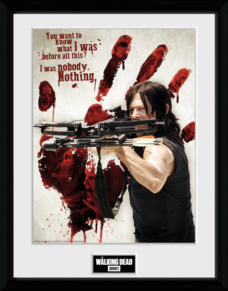 The Walking Dead - Daryl Bloody Hand Framed poster