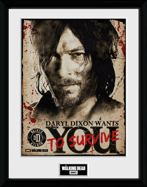 The Walking Dead - Daryl Needs You Framed poster