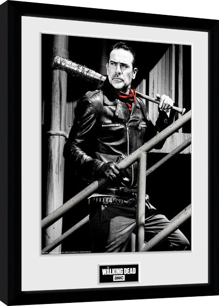The Walking Dead - Negan Stairs Framed poster