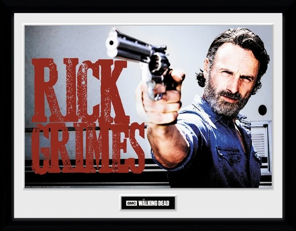 The Walking Dead - Rick Grimes Framed poster