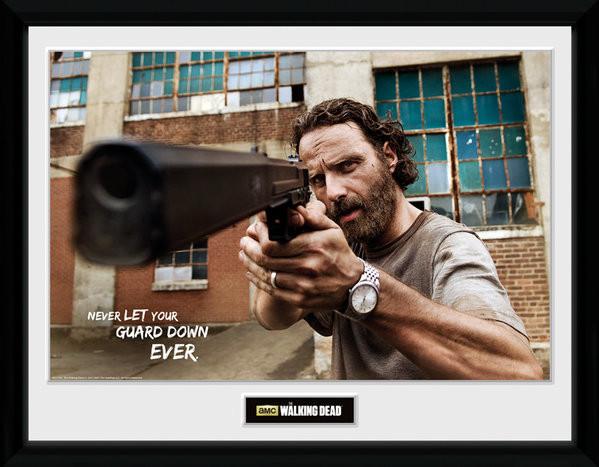 The Walking Dead - Rick Gun Framed poster