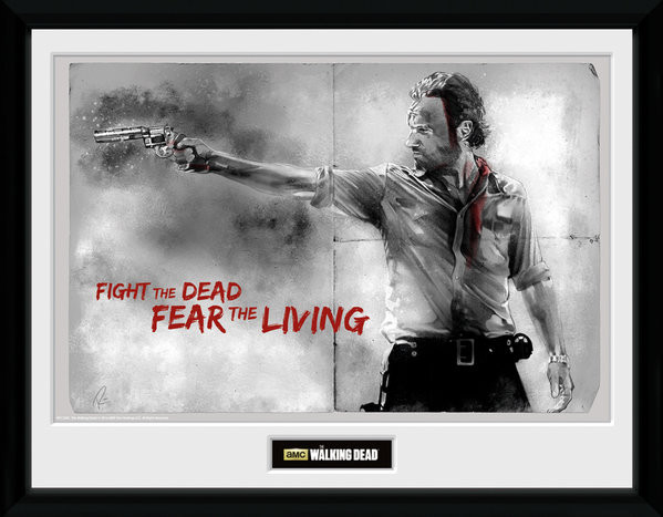 Framed poster The Walking Dead - Rick