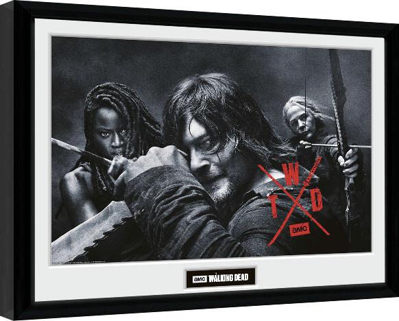 Framed poster The Walking Dead - Season 10 Group