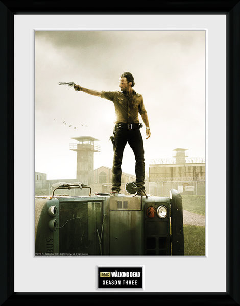 Framed poster The Walking Dead - Season 3