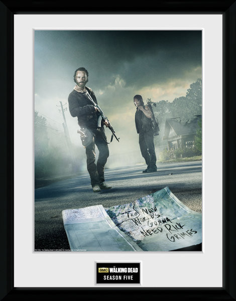 Framed poster The Walking Dead - Season 5