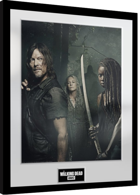 Framed poster The Walking Dead - Season 9 Trio