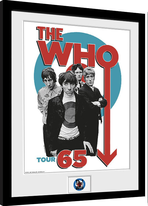 Framed poster The Who - Tour 65