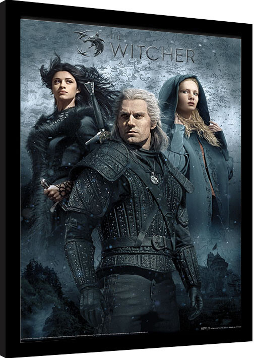 Framed poster The Witcher - That Which You Can't Outrun