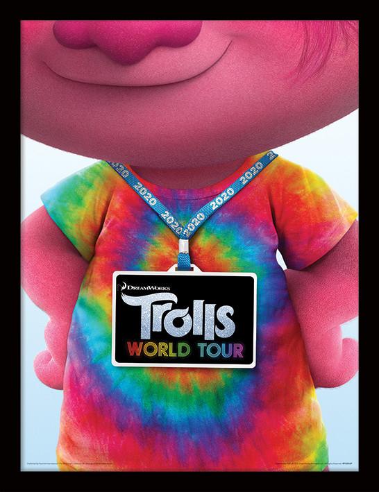 Framed poster Trolls World Tour - Backstage Pass