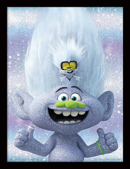 Trolls World Tour Guy Diamond And Tiny Framed Poster Buy At Europosters