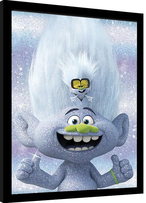 Framed poster Trolls World Tour - Guy Diamond and Tiny