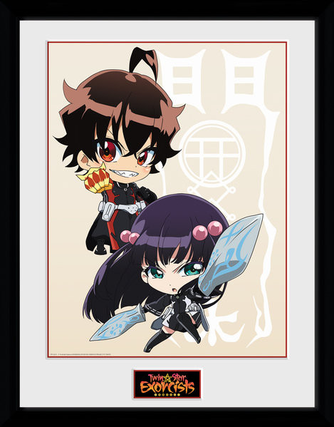 Framed poster Twin Star Exorcists - Chibi