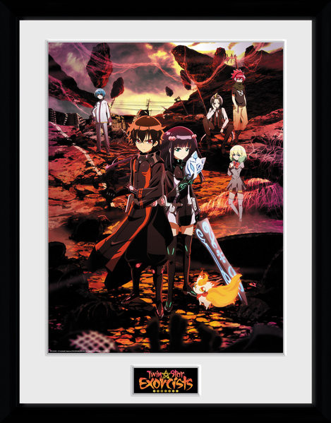 Framed poster Twin Star Exorcists - Key Art