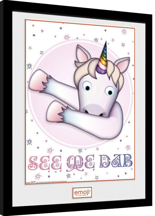 Framed poster Unicorn - Emoji