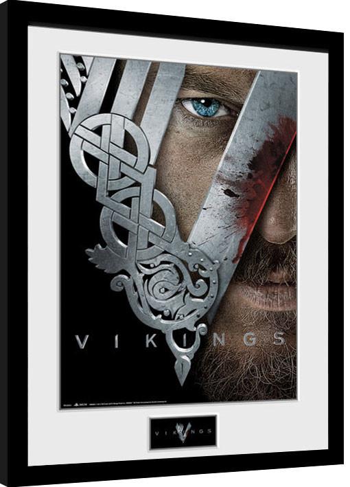 Framed poster Vikings - Keyart