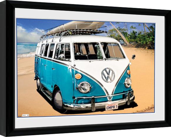 POSTER MINI BUS CALIFORNIEN VW 91,5 x 61 cm