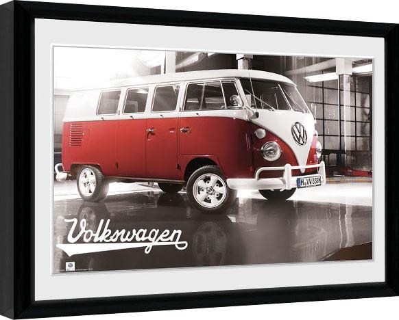 VW Camper - Warehouse Framed poster