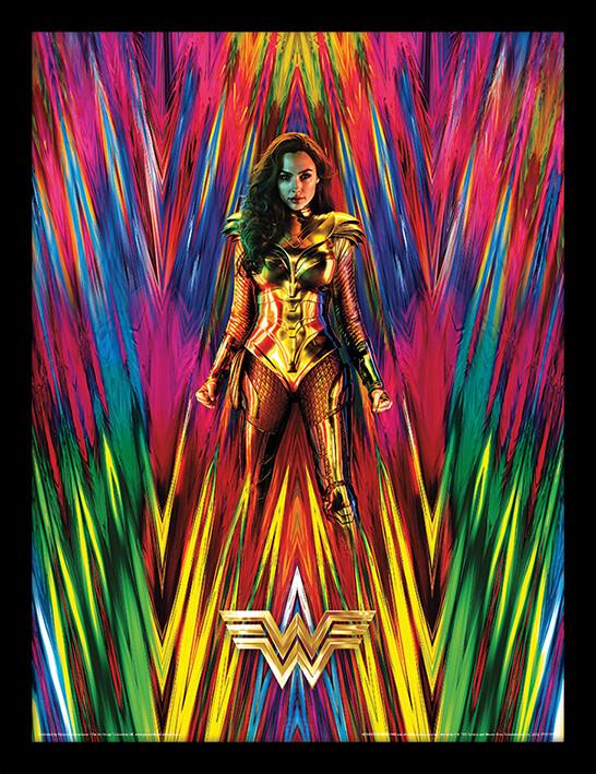 Framed poster Wonder Woman 1984 - Neon Static
