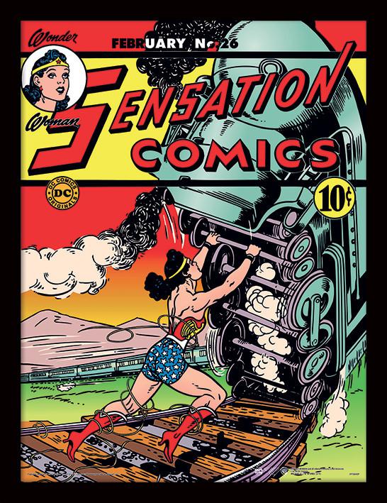 Framed poster Wonder Woman - Train Tussle