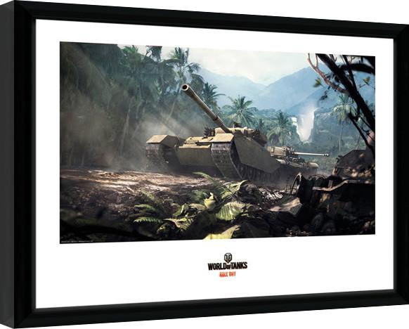 World of Tanks - Forest Tanks Framed poster