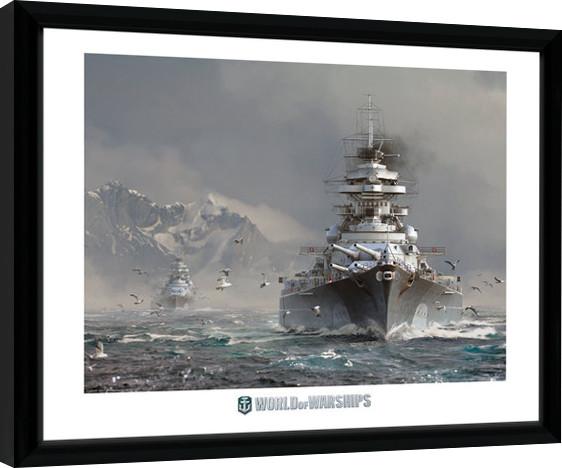 Framed poster World Of Warships - Bismark