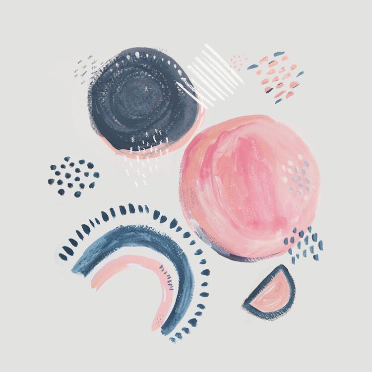Art Print on Demand Abstract mark making circles