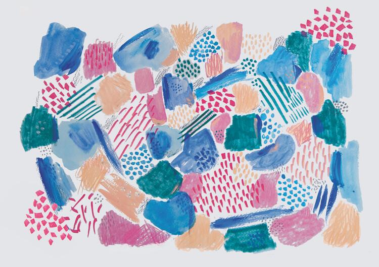 Art Print on Demand Abstract mark making