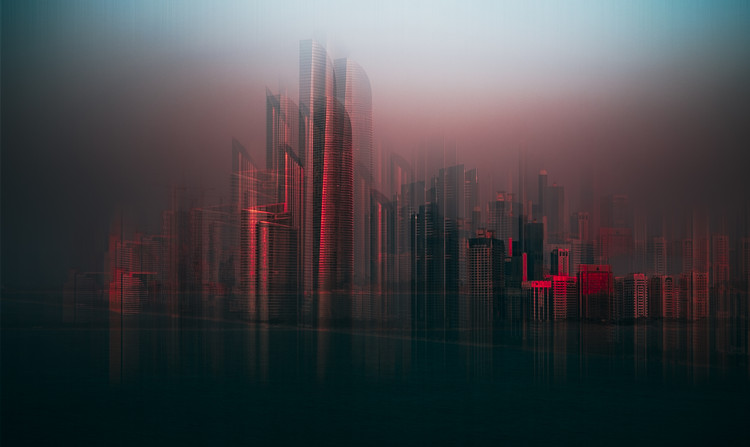 Art Print on Demand Abu Dhabi skyline