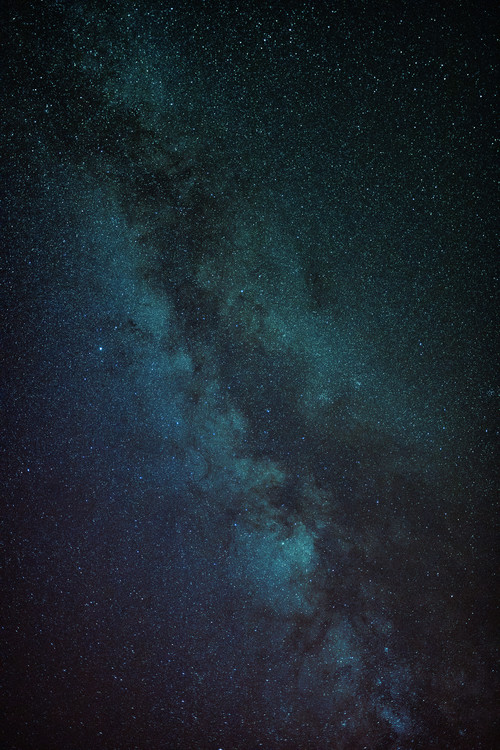 Art Print on Demand Astrophotography of blue Milky Way III