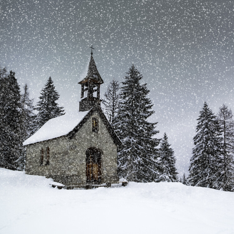 Art Print on Demand Bavarian Winters Tale Anna Chapel
