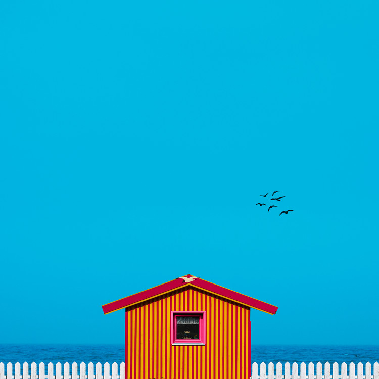 Art Print on Demand beach house