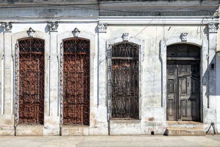 Art Print on Demand Beautiful Cuban Facade