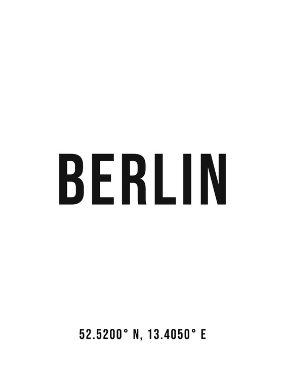 Art Print on Demand Berlin simple coordinates