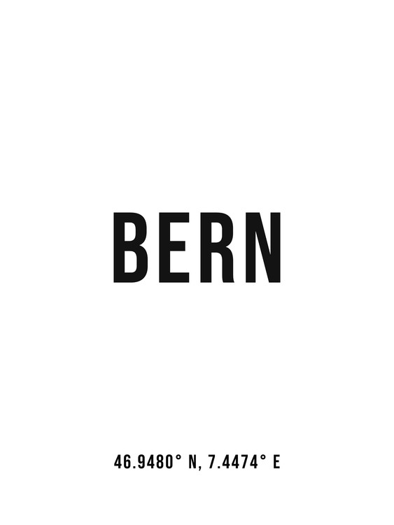Art Print on Demand Bern simple coordinates