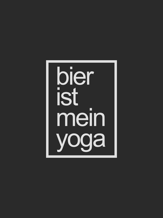 Art Print on Demand bier ist me in yoga