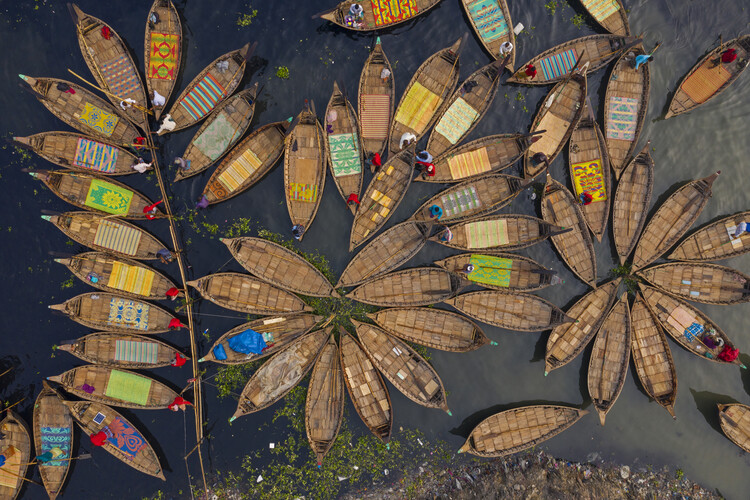 Art Print on Demand Boats shape like petals of a flower