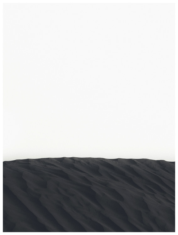 Art Print on Demand border black sand