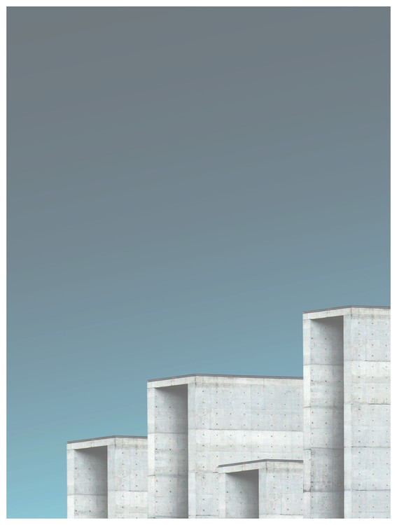 Art Print on Demand Border cement buildings