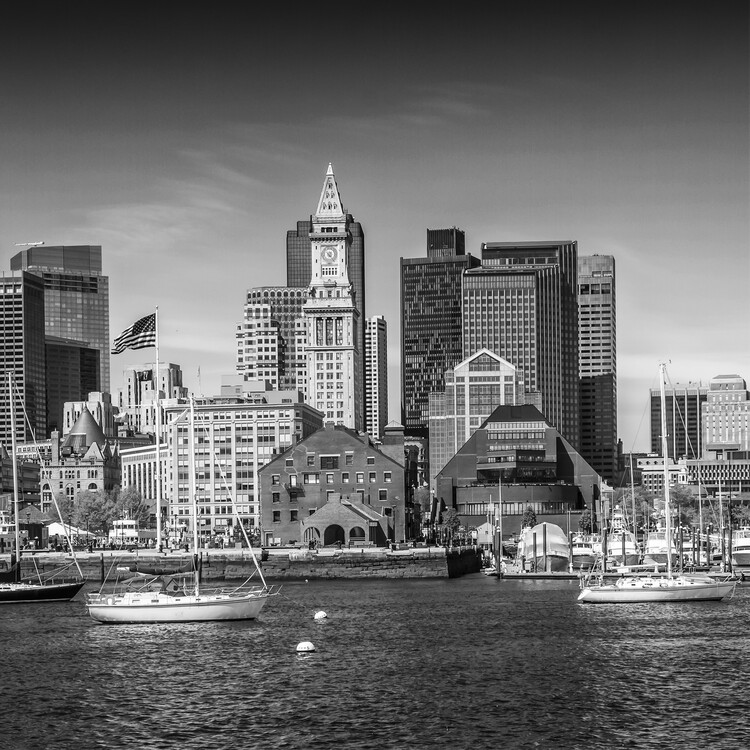 Art Print on Demand Boston Skyline