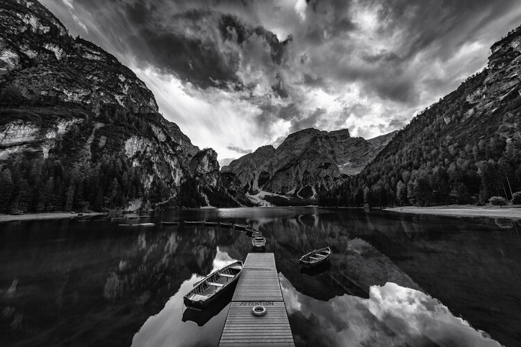 Art Print on Demand Braies' shades of grey