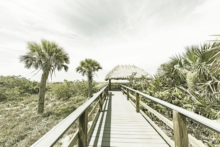Art Print on Demand Bridge to the beach | Vintage